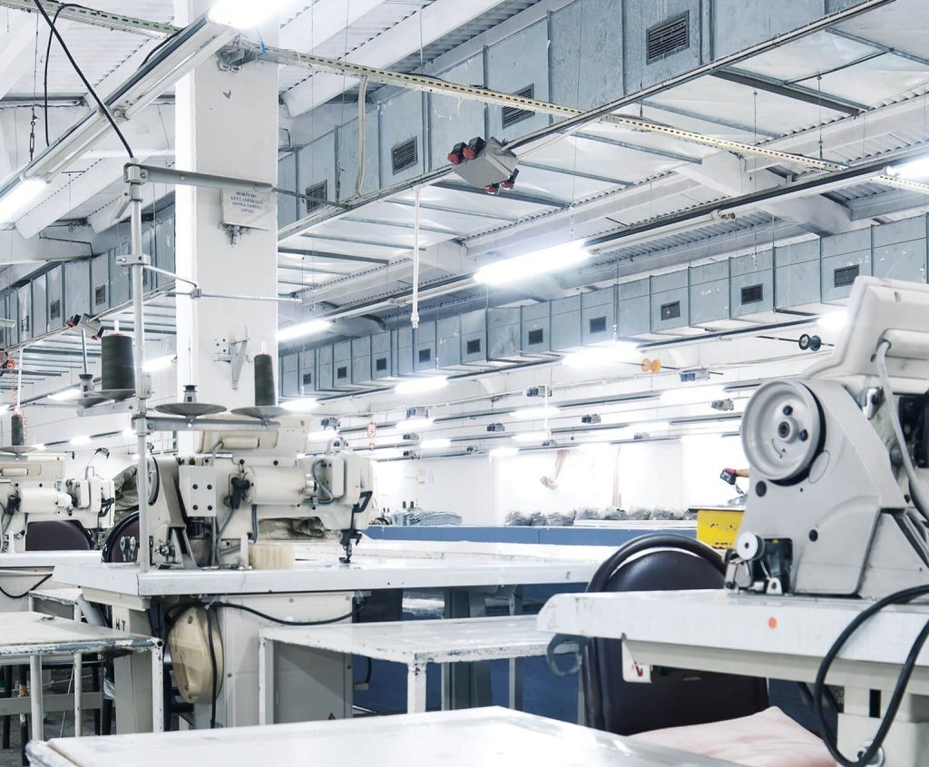 Industrial manufacturing real estate space