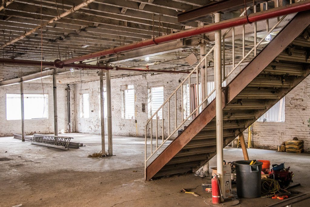 The inside of a gutted building in Bushwick, New York. Preferred Return example 2.